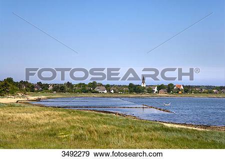 Stock Photograph of Coast of Nebel, Amrum, Nordfriesland.