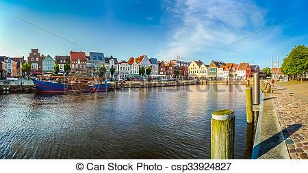 Stock Foto von Stadt, husum, deutschland, Schleswig.