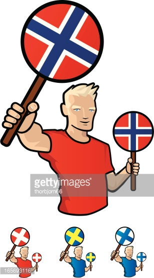 Nordic Countries Vector Art.