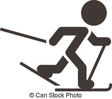 1078 Skiing free clipart.