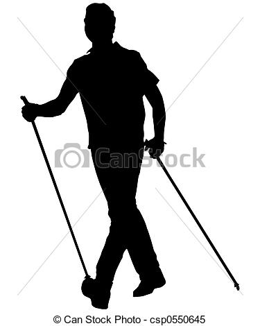 Stock Illustrations of nordic walking man csp0550645.