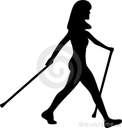 Nordic Walking Clipart.