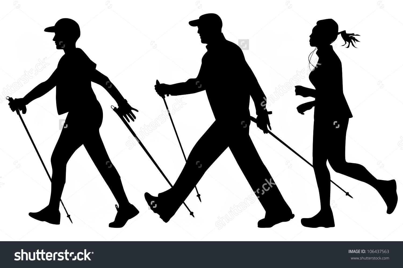 Clipart nordic walking.