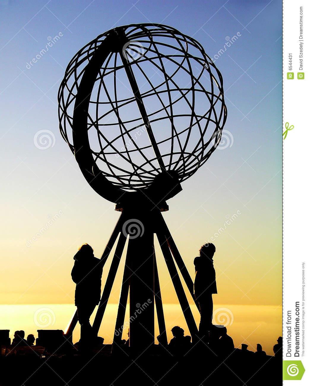 Globe At North Cape / Nordkapp Stock Image.