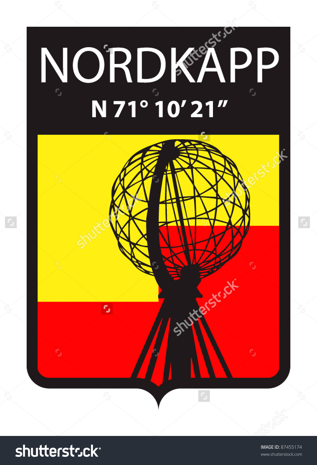 Emblem Nordkapp Norway Useful Sticker Magnet Stock Vector 87455174.