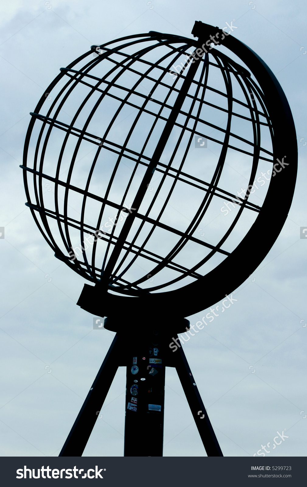 Globe North Cape Symbol Northernmost Point Stock Photo 5299723.