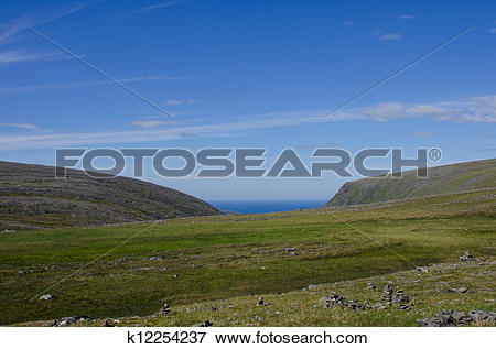 Picture of Nordkapp/ North Cape summer landscape, Norway k12254237.