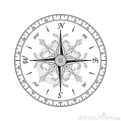 Compas Stock Illustrations.