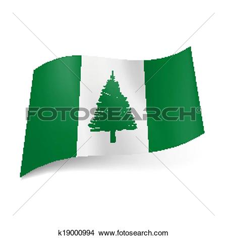 Clipart of Flag of Norfolk Island k19000994.