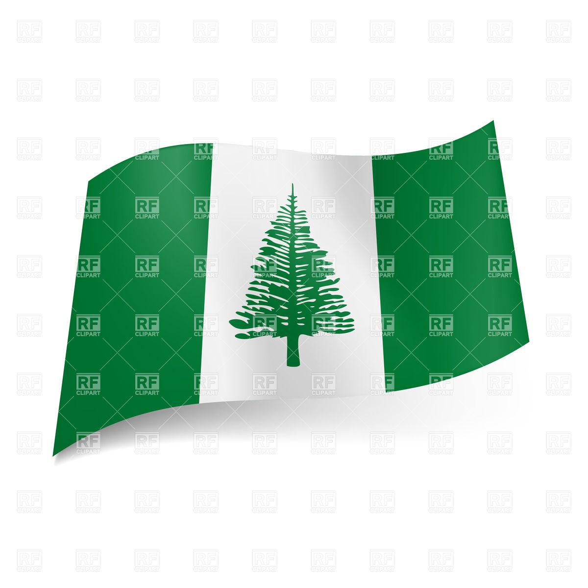 Flag of Norfolk Island Vector Image #30309.