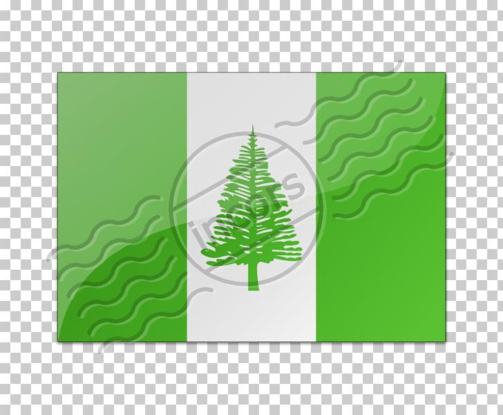 Flag of Norfolk Island Christmas ornament Rectangle.