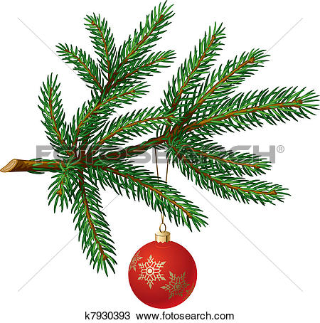 Clipart of set of fir branch k11426331.