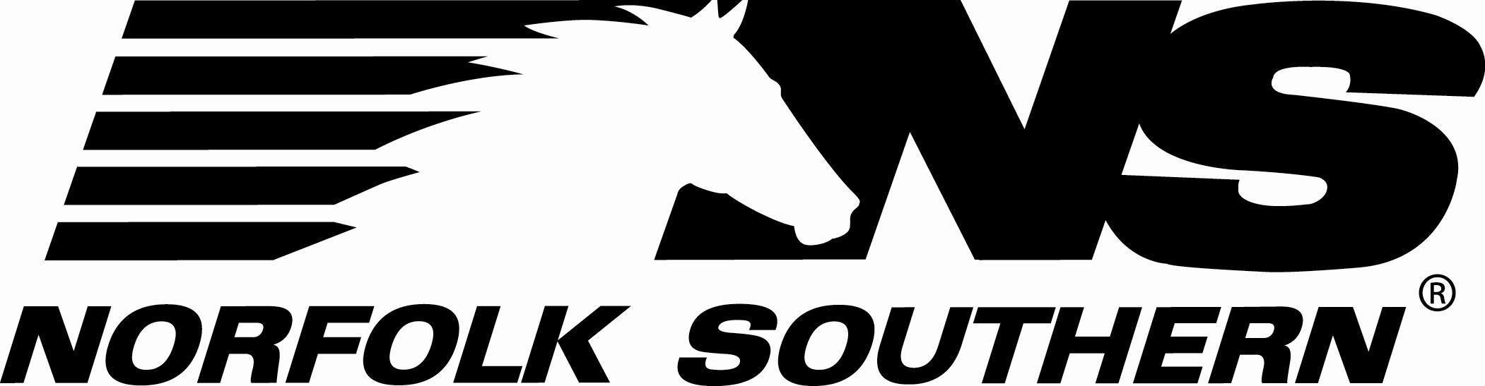 Norfolk Southern Railroad logo.