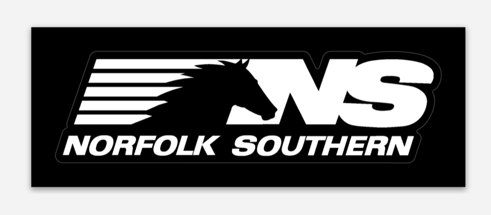 Norfolk Southern (NS) Vinyl Sticker.