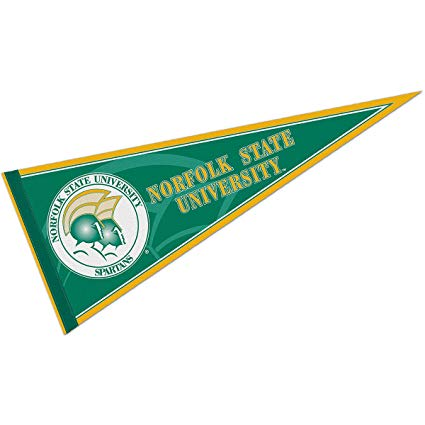 College Flags and Banners Co. Norfolk State University Pennant Full Size  Felt.
