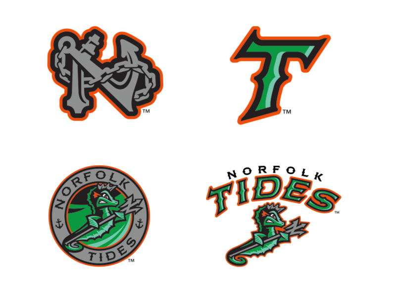 Brand New: New Logos for Norfolk Tides by Brandiose.