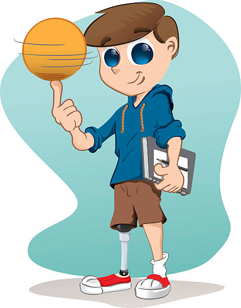 Amputee Boy Clip Art, Vector Images & Illustrations.