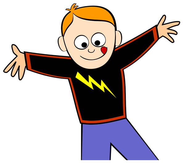 Normal boy clipart image #11316.