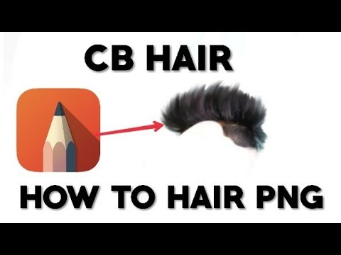 How to hair PNG create in your normal photo CB hair png Autodesk app.