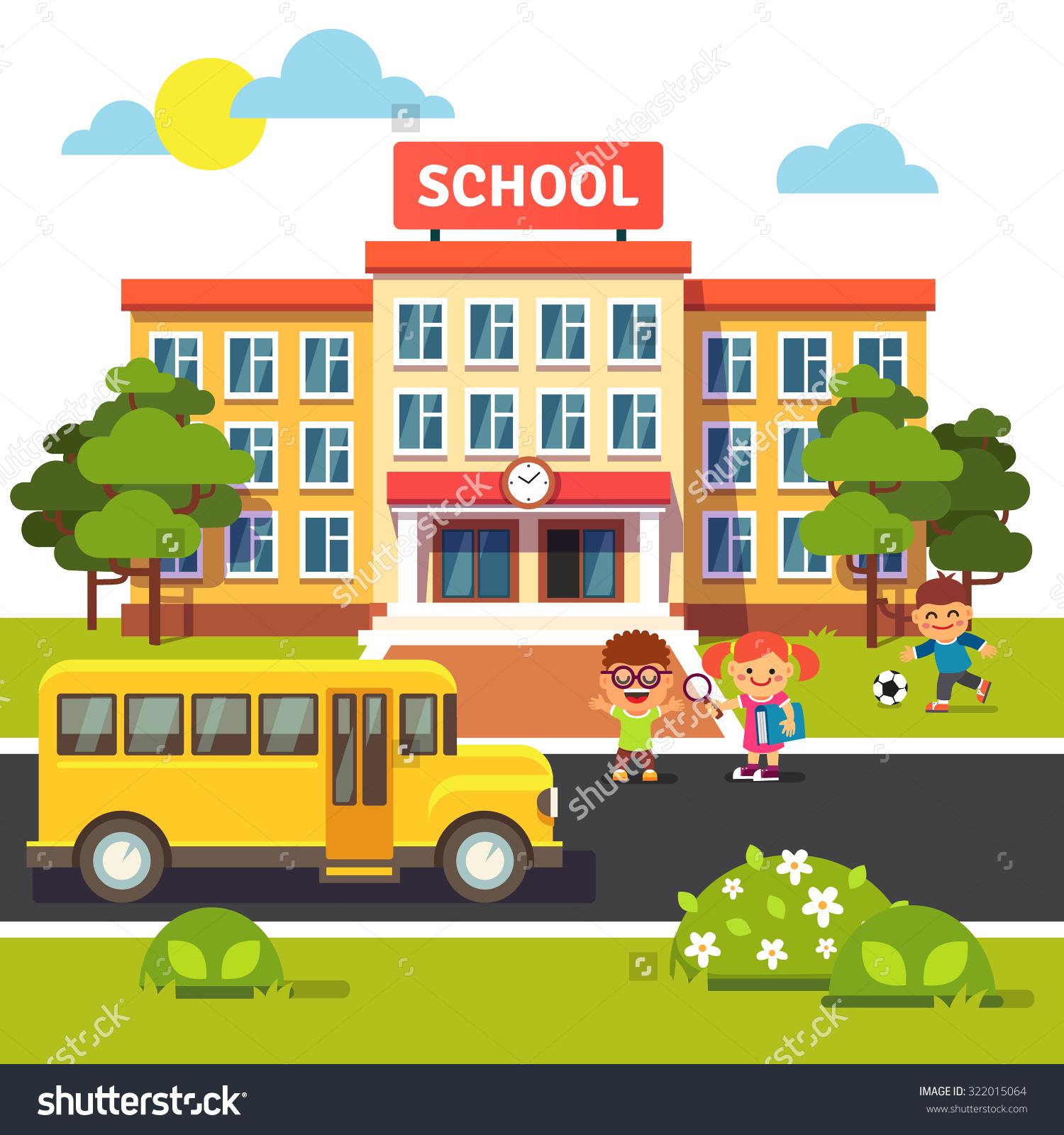School building background clipart a normal school.