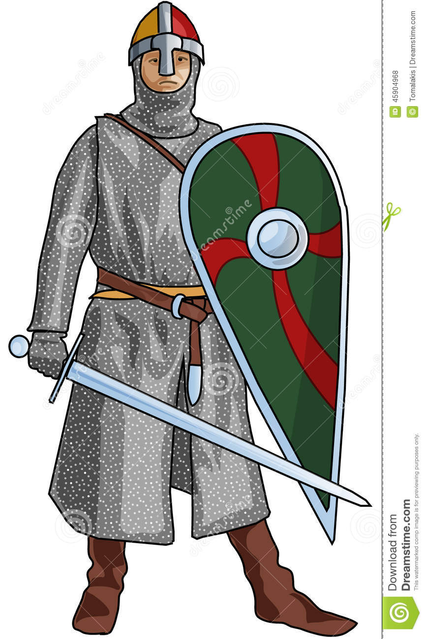 Norman soldier clipart.