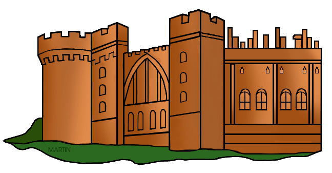 Free Architecture Clip Art by Phillip Martin, Norman Castle.