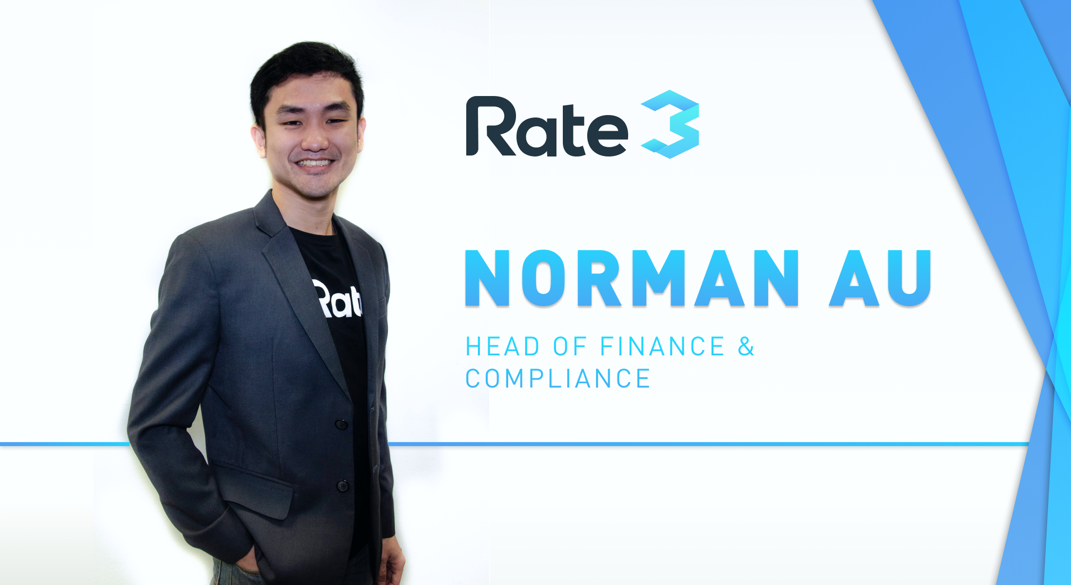 Welcoming Norman Au as Rate3's new Head of Finance and.