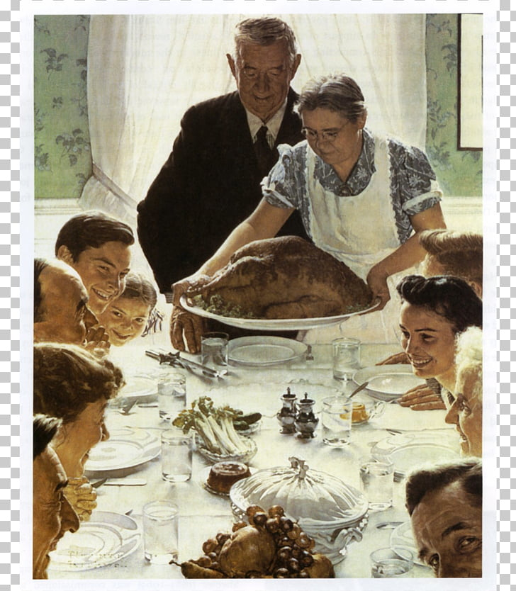 Freedom from Want Norman Rockwell Paintings Thanksgiving Art.