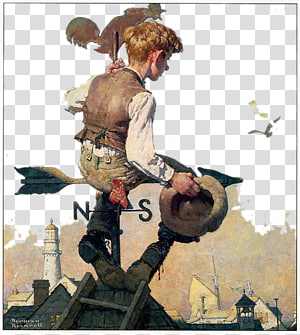 Norman Rockwell PNG clipart images free download.
