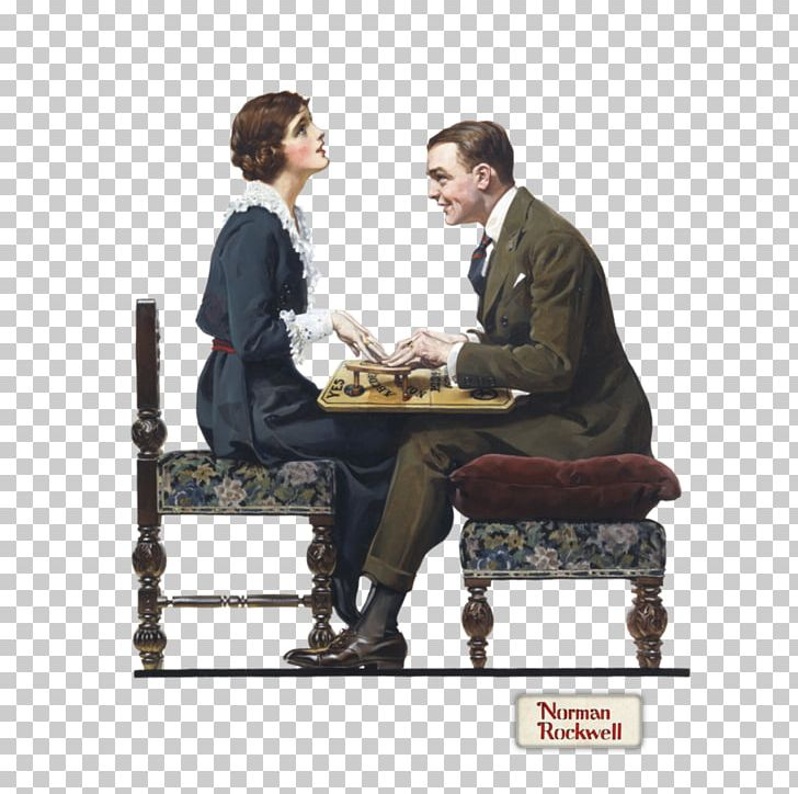 Saturday Evening Post Norman Rockwell Paintings Ouija PNG.
