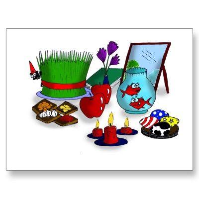 Norooz Cartoon Postcard.