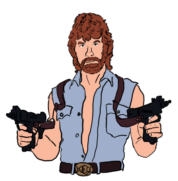 Chuck Norris Cartoon.