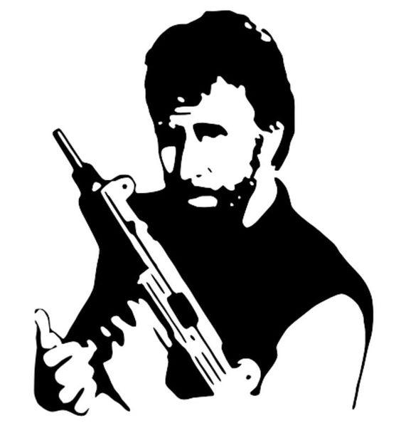 Chuck Norris stencil template.