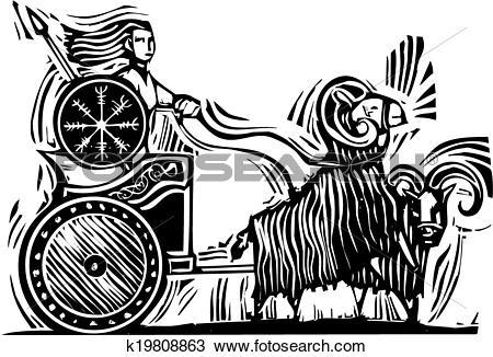 Clipart of Norse Goddess Frigg k19808863.