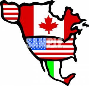 North America Continent Clipart.