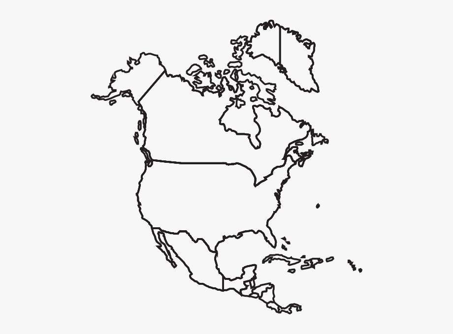 North America Map Clip Art At Clker Com Vector Clip.