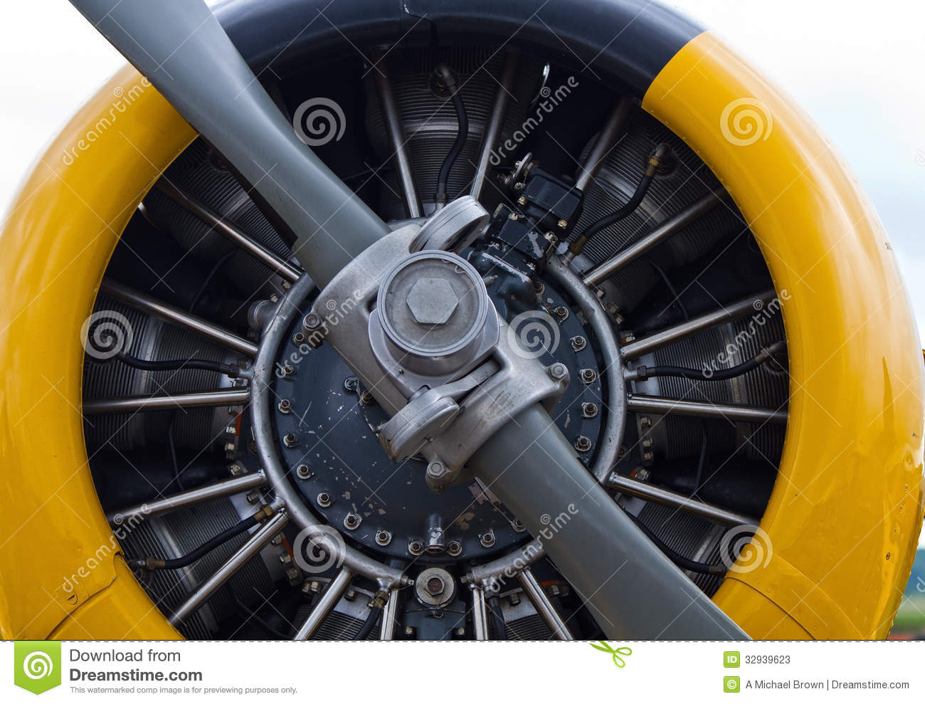 North American Harvard Aircraft Propeller Stock Photos.
