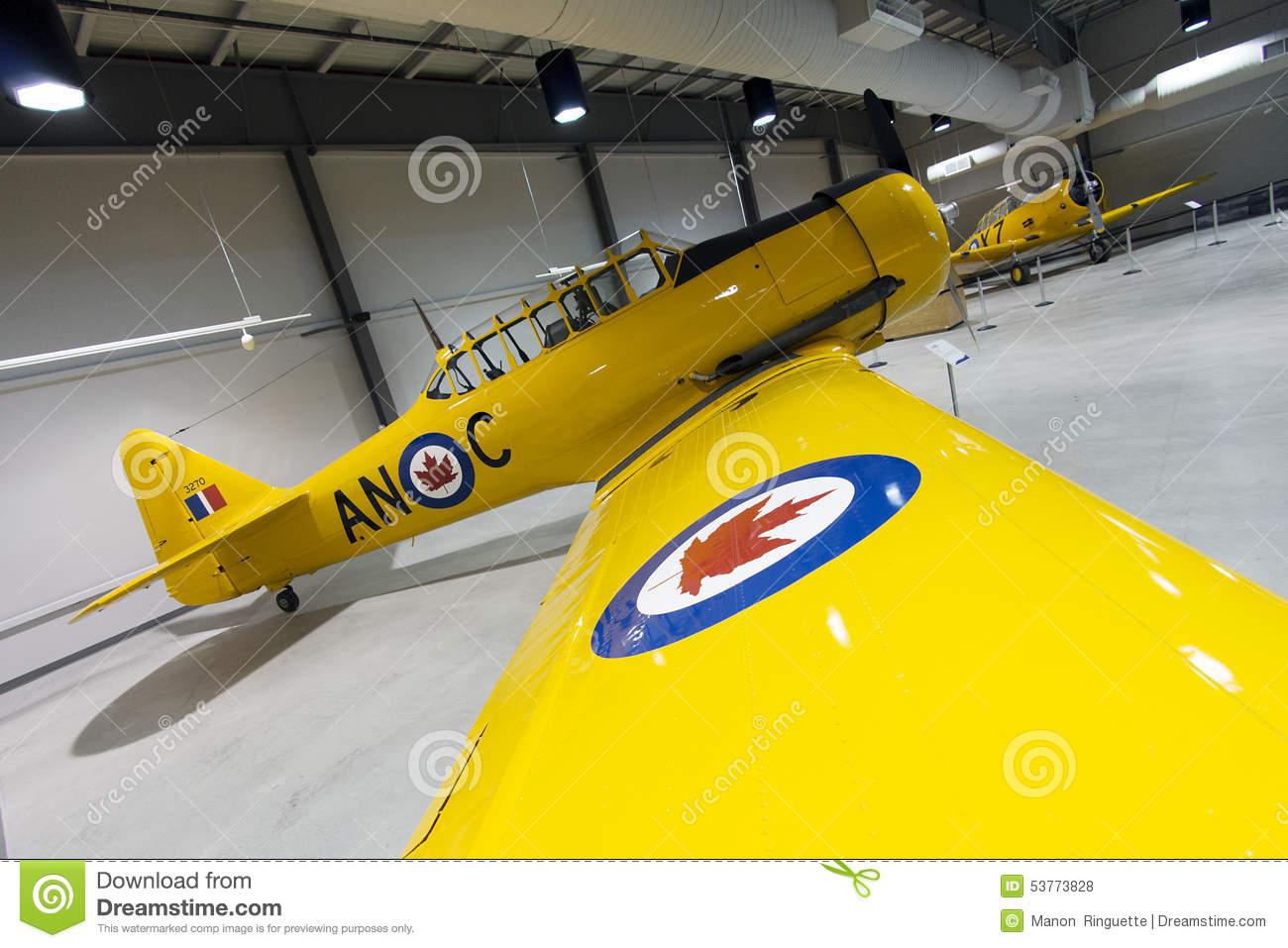 North American Harvard Mark II Aircraft Editorial Stock Photo.