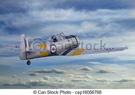 Stock Image of T6 Harvard Airplane.