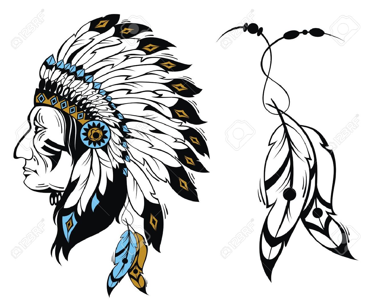 North American Indian chief.