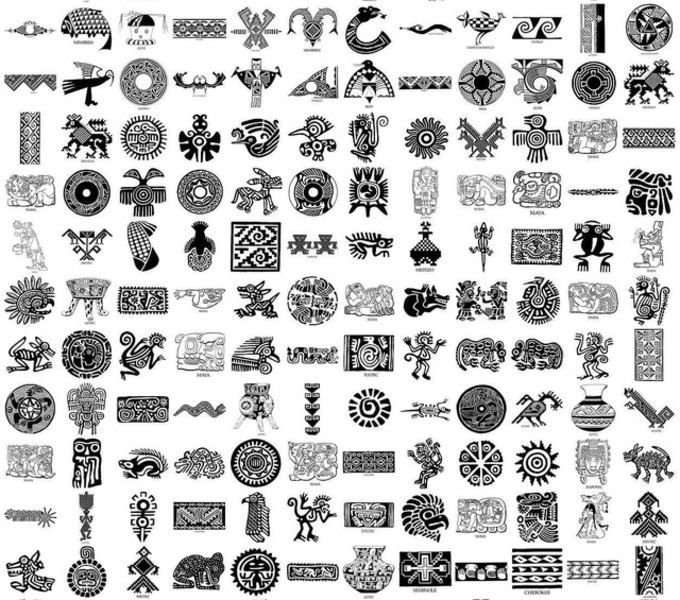 North American Indian Motifs Dover (clipart).