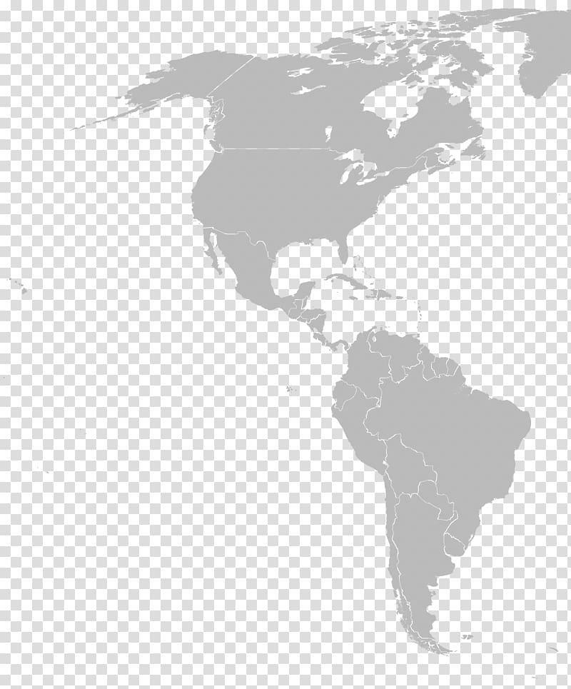 South America Blank map Latin America North America, NORTH.