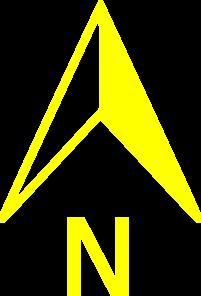 Yellow North Arrow Clip Art at Clker.com.