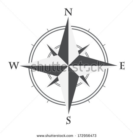 North Arrow Stock Images, Royalty.