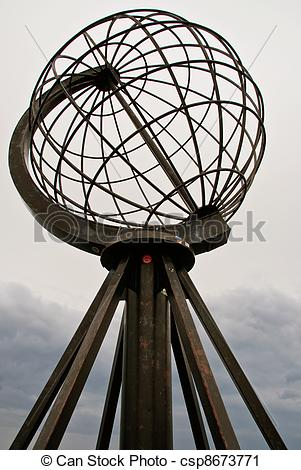 Stock Photography of North Cape Globe Monument. Norway. csp8673771.