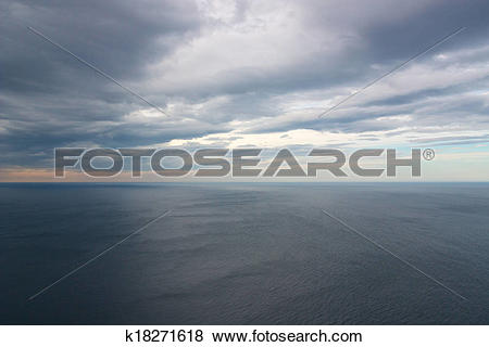 Pictures of View of nothingness in Arctic ocean from North Cape.