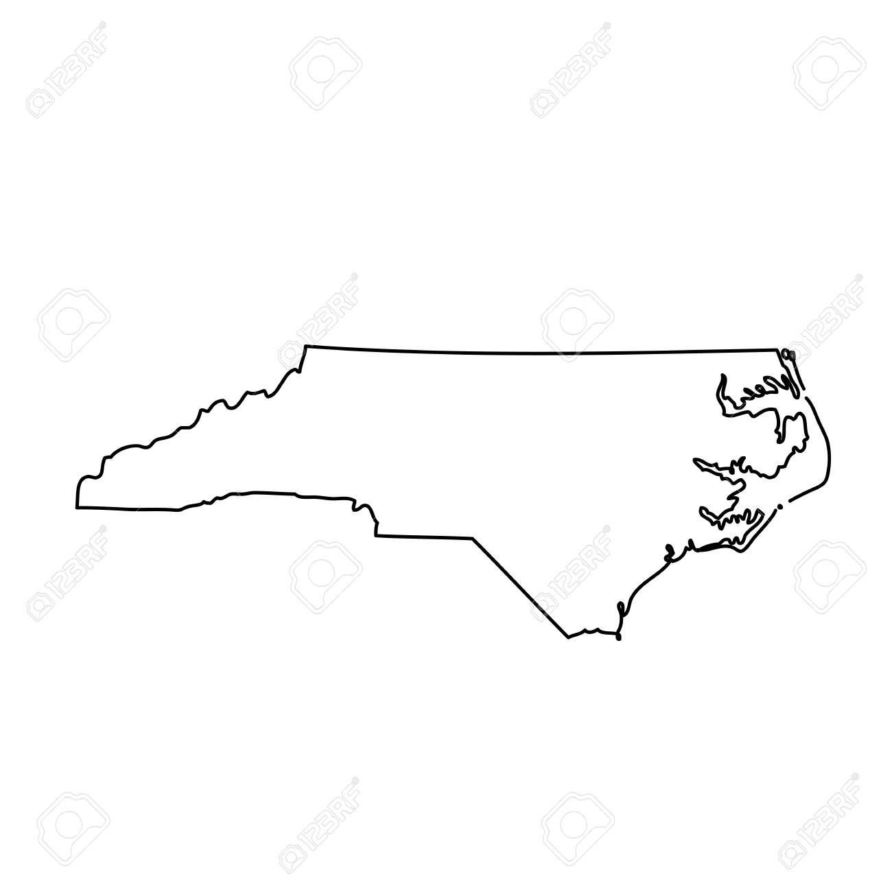 map of the U.S. state North Carolina.