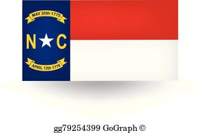 North Carolina Flag Clip Art.