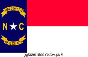 North Carolina Flag Clip Art.