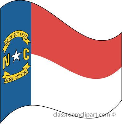 State Flags North Carolina Flag Waving Classroom Clipart.